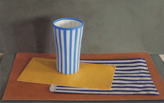 , 'Striped Cup and Paper Bag,' 2012, Nancy Hoffman Gallery