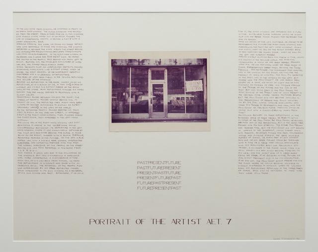 , 'Past, Present, Future: Portrait of the artist Aet. 7,,' 1967, P!