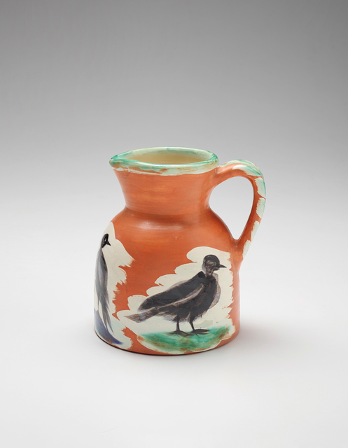 Pablo Picasso, 'Pichet aux oiseaux (Pitcher with Birds)', 1962, Design/Decorative Art, White earthenware pitcher painted in colours with brushed glaze, Phillips