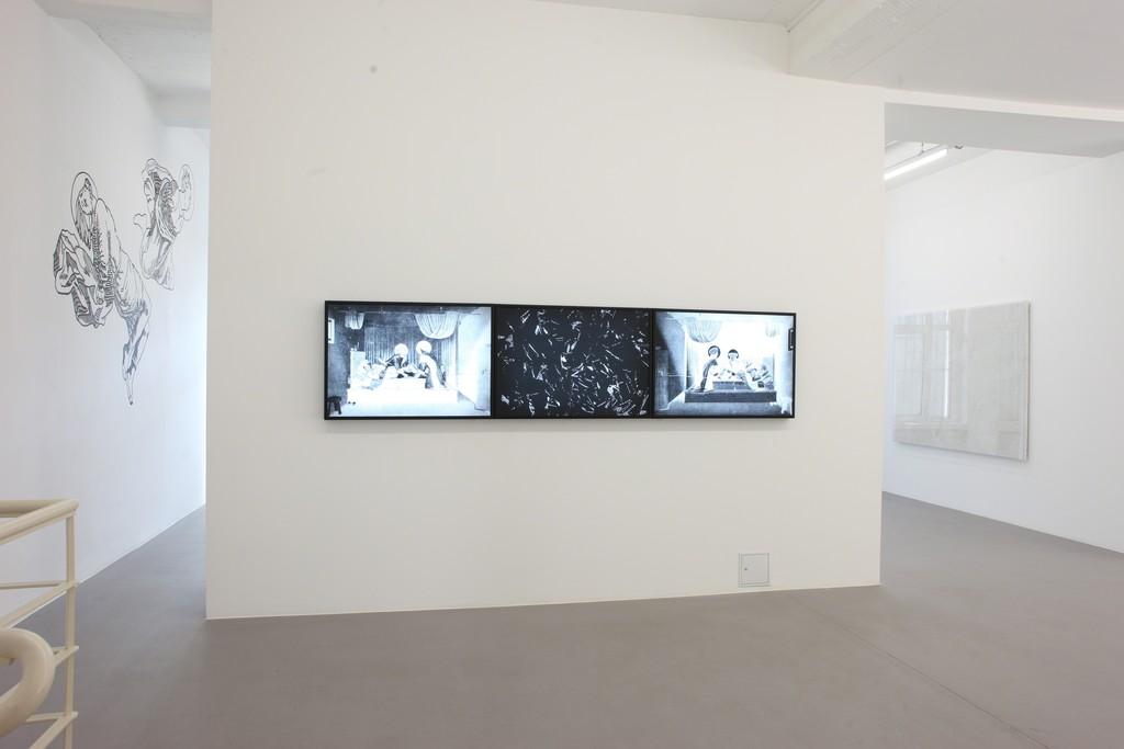 exhibition MOUNIR FATMI The Angel´ s Black Leg at CONRADS 2013
