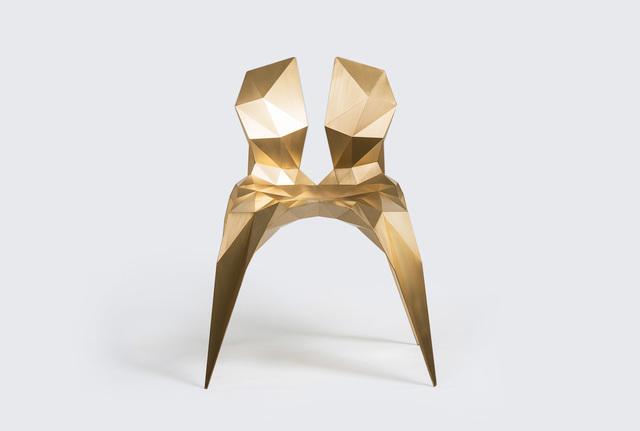 Zhoujie Zhang, 'Split Chair (SQN3-A) Brass', 2014, Design/Decorative Art, Brass, Gallery ALL