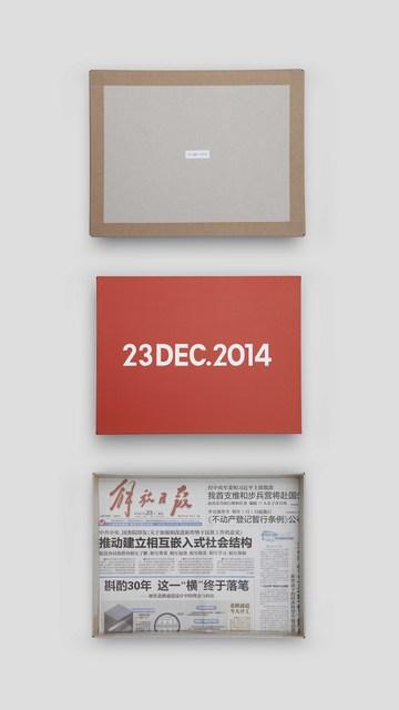 , 'On Kawara, Today Series, 23DEC.2014,' 2014, MadeIn Gallery