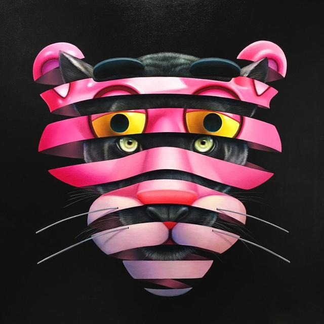 Super A, 'The Real Pink Panther - Trapped Series', 2019, Galerie Droste
