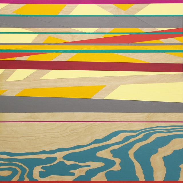 Michele Kishita, 'Autumn, Dusk at the Bay', 2016, Painting, Latex on birch panel, InLiquid