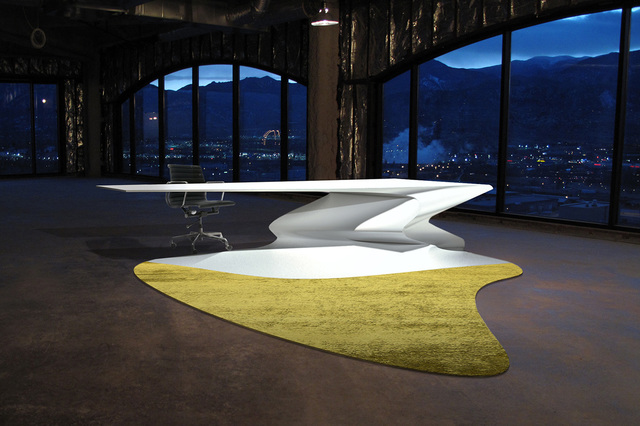 Philip Michael Wolfson, 'Liquid Desk with Shadow Carpet', 2011, Sculpture, Fiber glass, hand-tuffted carpet