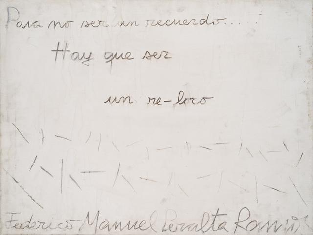 , 'Para no ser un recuerdo….,' , Del Infinito