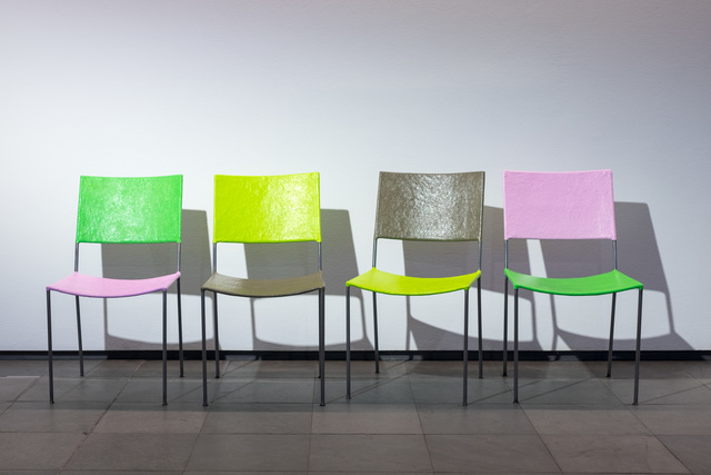, 'Jonathan Monk presents four chairs and a coat rack by Franz West,' 2016, Kunsthalle Wien