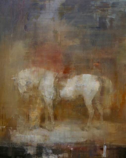 , 'White horse in a stable after Sir Edwin Henry Landseer,' 2017, Unit London