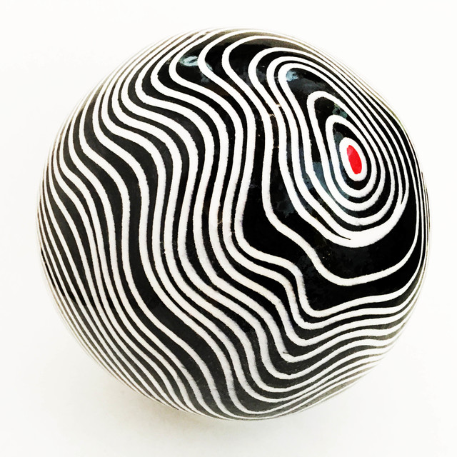 , 'Black & White Tide Pool Ball  with Red Meridian,' , galerie 103