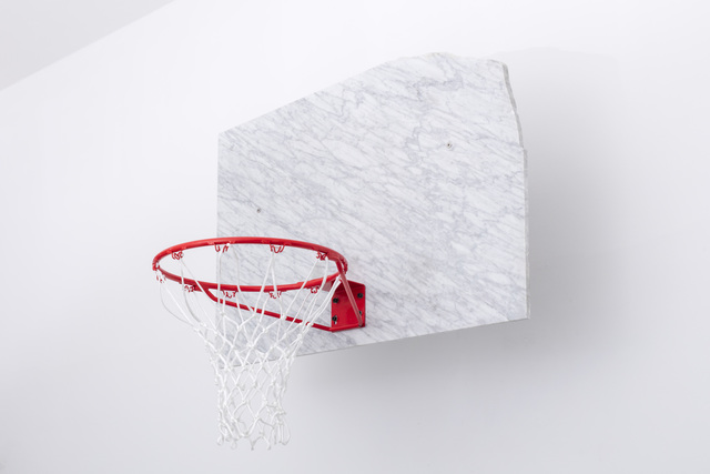 , 'Marble Basketball Backboard, Hoop and Ball signed by Dennis Rodman,' 2018, Etage Projects