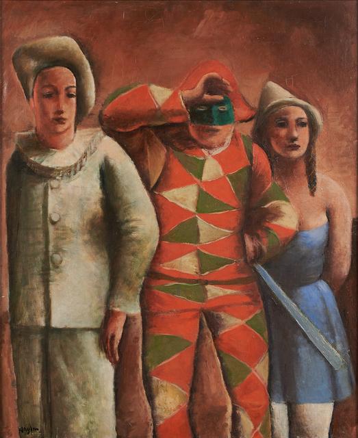 Henri Hayden, 'Untitled (Clowns)', Painting, Oil on canvas (framed), Rago/Wright