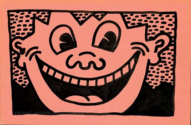 Keith Haring, 'Untitled, 1981 (Smiley Face, pink)', 1981, Martin Lawrence Galleries