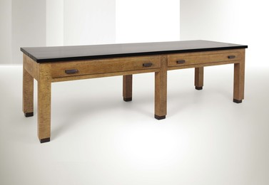 a table in placquered buxus wood and polished wood
