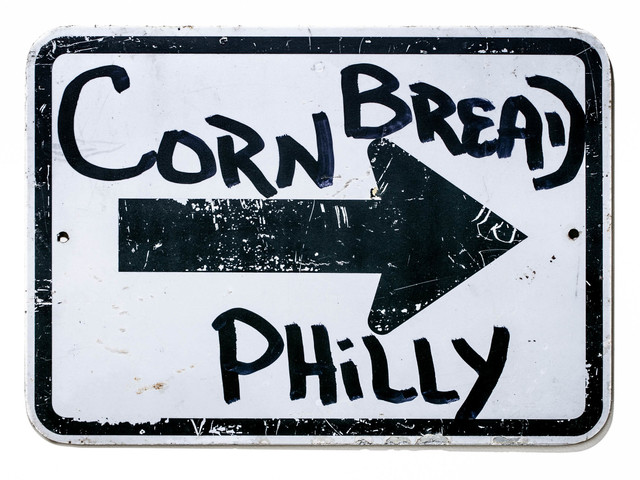 Cornbread, 'Cornbread Philly Forward', 2021, Painting, Acrylic paint on a retired street sign, Paradigm Gallery + Studio