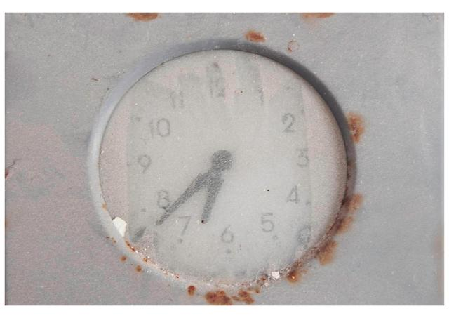 ", 'Wall clock (Ficarolo) from series ""Atlas italiae"",' 2013, MLB Home Gallery"