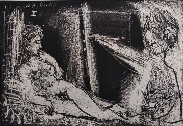 , 'Painter in Half-figure and Reclining Model | Peintre en demi-figure et modele allongè,' 1966, Gilden's Art Gallery