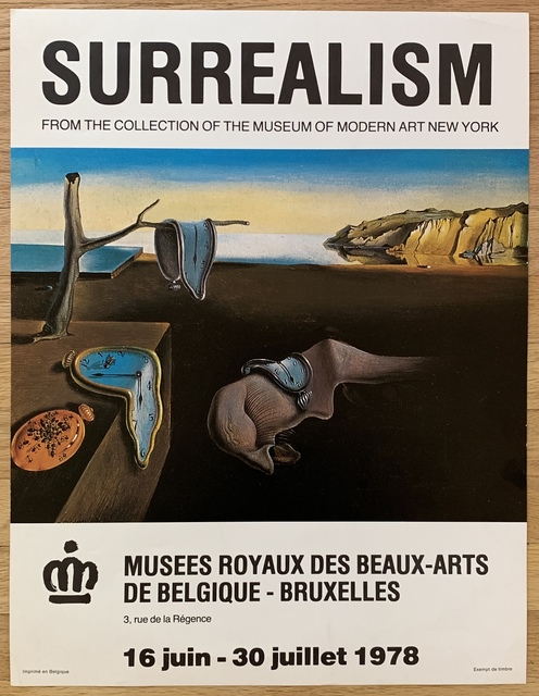 Salvador Dalí, ' Original Vintage Belgian Exhibition Poster', 1978, Kwiat Art