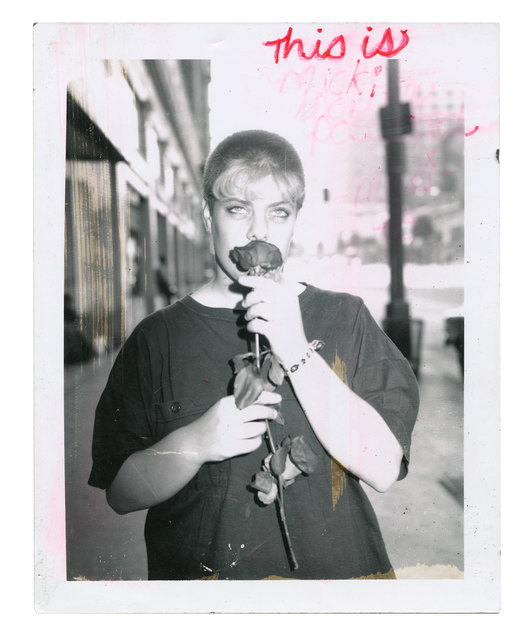 Jim Goldberg, 'Macki with Red Rose', 1989, Photography, Internal dye-diffusion transfer print (vintage), Casemore Kirkeby