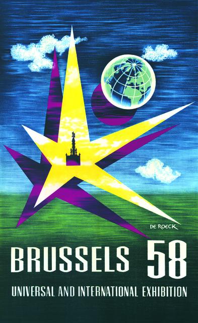 Lucien De Roeck, 'Affiche Expo 58', Musée d'Ixelles