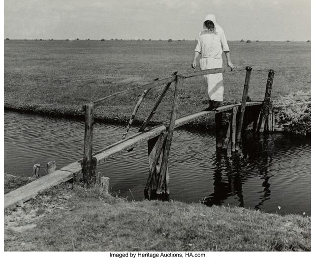 Albert Renger-Patzsch, 'Woman Crossing Bridge', circa 1940, Heritage Auctions
