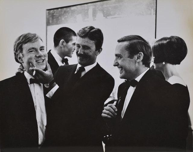 , 'Andy Warhol, Irving Blum, Billy Al Bengston and Dennis Hopper, at the Opening Reception, Duchamp Retrospective, Pasadena art Museum,,' 1963, Robert Berman Gallery