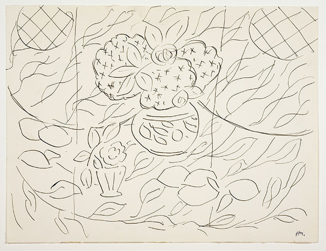 ", 'Sketch for the painting ""Lemons and Mimosas on a Black Background"",' 1944, American Federation of Arts"