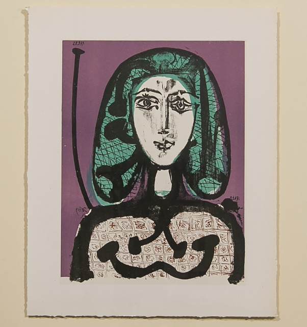 Pablo Picasso, 'THE WOMAN WITH THE FISHNET (LA FEMME A LA RESILLE)', 1956, Reproduction, Lithograph, White Cross