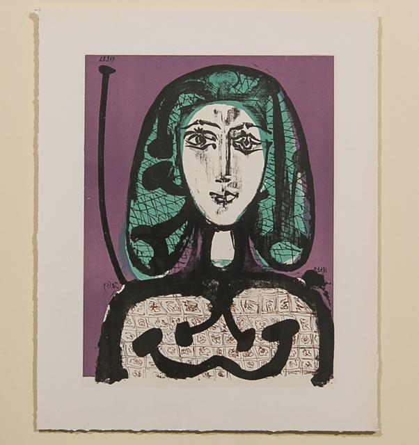 Pablo Picasso, 'THE WOMAN WITH THE FISHNET (LA FEMME A LA RESILLE)', 1956, White Cross