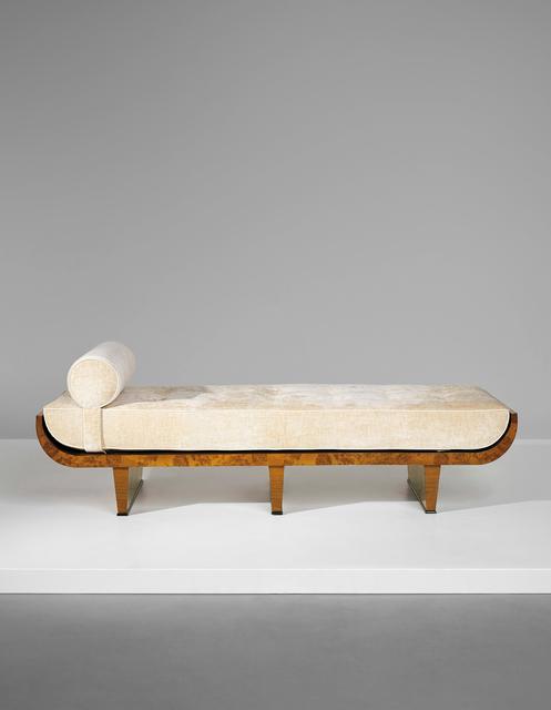 Gio Ponti, 'Rare daybed', circa 1927, Design/Decorative Art, Burr walnut-veneered wood, walnut-veneered wood, walnut, painted wood, fabric, Phillips