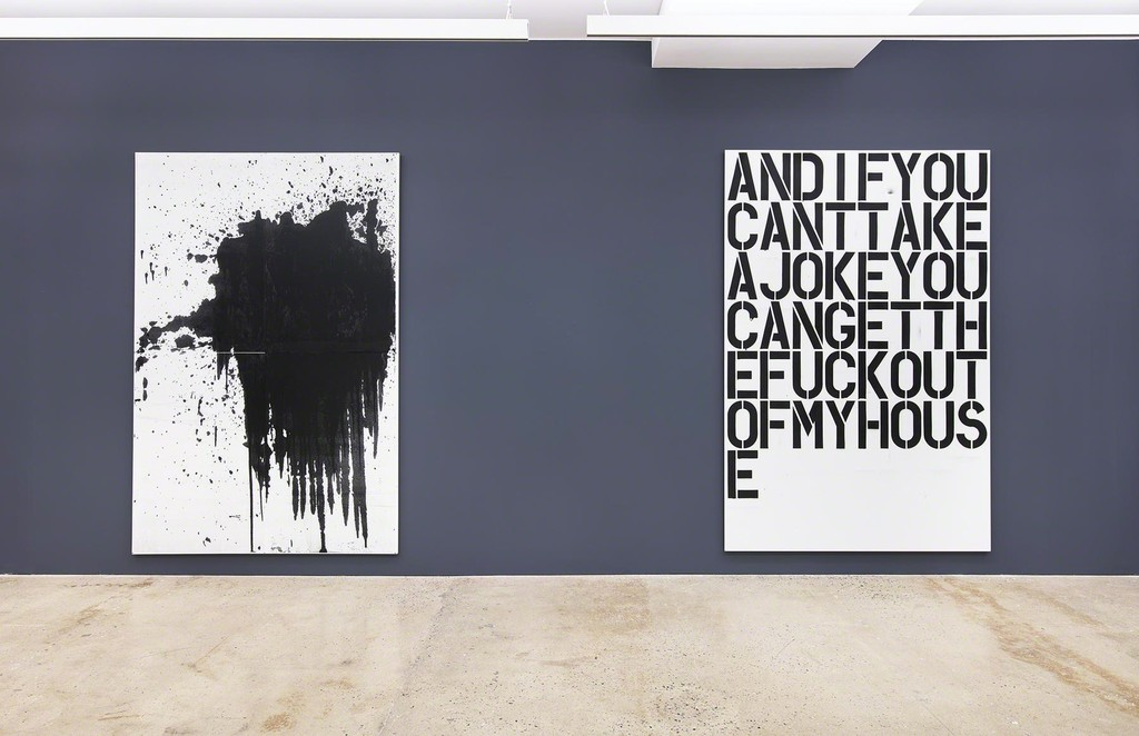 WARHOL, WOOL, GUYTON  at Nahmad Contemporary. Photographs by Tom Powel Imaging. Andy Warhol Artworks © 2016 The Andy Warhol Foundation for the Visual Arts, Inc. / Artists Rights Society (ARS), New York. © Christopher Wool; Courtesy of the artist and Luhring Augustine, New York. © Wade Guyton; Courtesy of the artist and Petzel Gallery, New York.