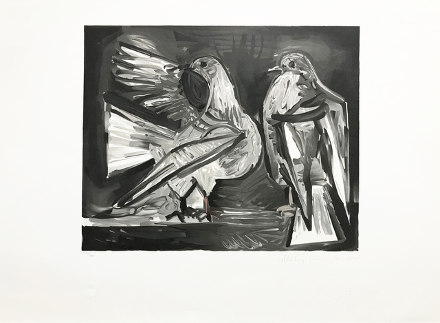 Pablo Picasso, 'DEUX PIGEONS', 1979-1982, Reproduction, LITHOGRAPH ON ARCHES PAPER, Gallery Art