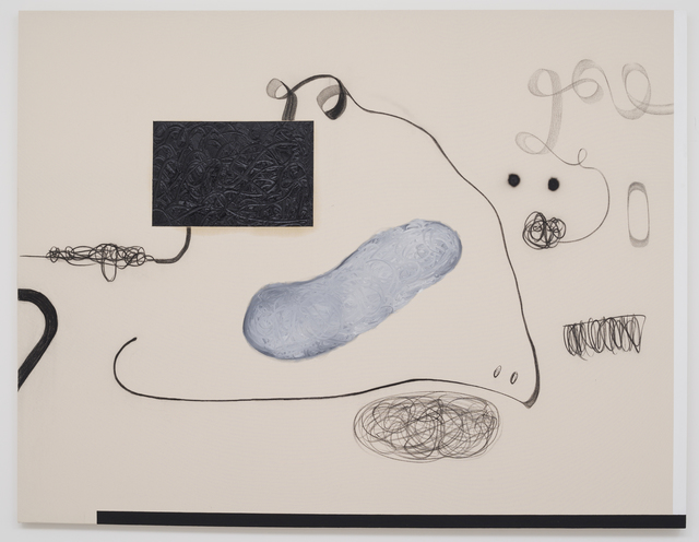 Christian Rosa, 'Funny one', 2015, Painting, Charcoal, oil paint and pencil on canvas, OMR