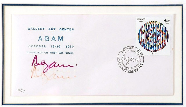 "Yaacov Agam, '""Life"", Limited Edition signed First Day Cover', 1980, Alpha 137 Gallery Auction"