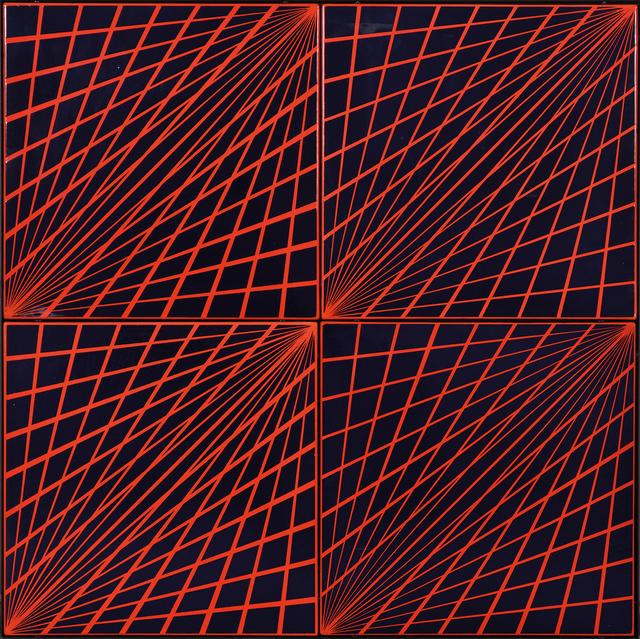 , 'Radial Enamel (Red-Blue),' 1969, The Mayor Gallery