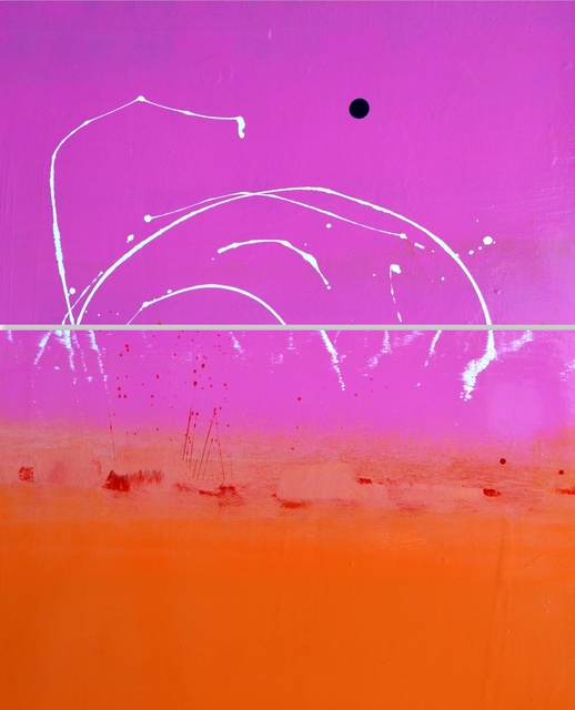 , 'Super Pink Sky Above Orange with Lovely White Squiggles and a Brilliant Blue Blob Painting Diptych,' , JoAnne Artman Gallery