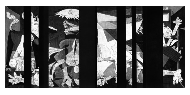 , 'Untitled (Guernica Redacted, Picasso's Guernica, 1937),' 2014, Garage Museum of Contemporary Art