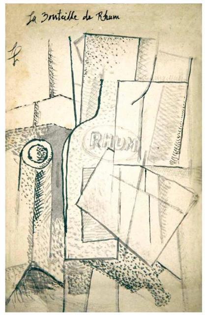 Fernand Léger, 'La Bouteille de Rhum', 1914, Mirat