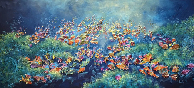 Laura Reich, 'Fondo del Mar ', 2018, Painting, Mixed Media, Peimbert Art