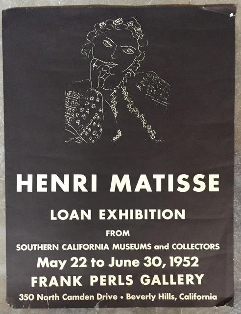 Henri Matisse, 'Original Exhibition Poster', 1951, Kwiat Art