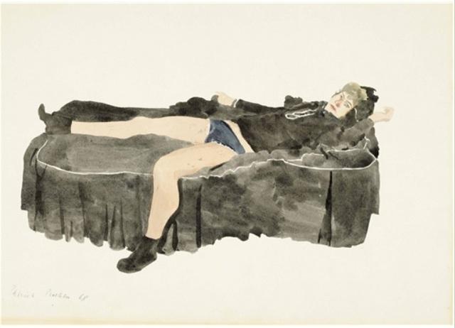 , 'Young Man Reclining on a Bed,' 1968, Osborne Samuel