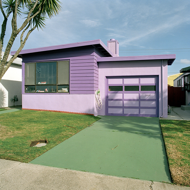 Jeff Brouws, 'Hyacinth, Daly City, California (Freshly Painted Houses)', 1991, Robert Klein Gallery