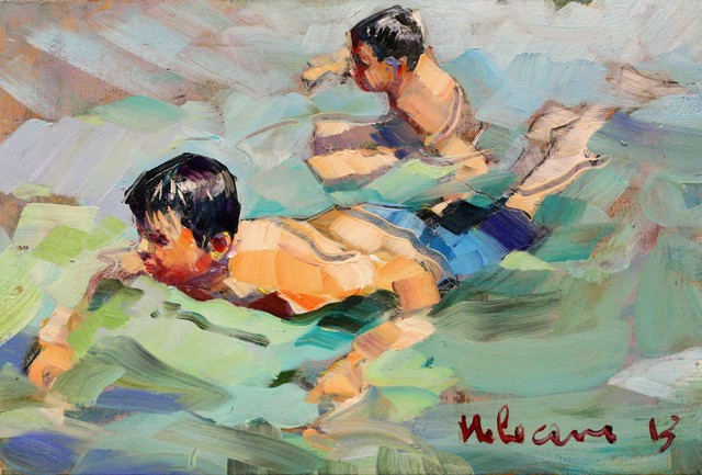 , 'Bagnanti,' , Marta Hewett Gallery