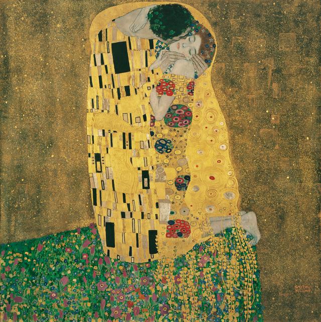 Gustav Klimt, 'Kiss', 1907, Painting, Belvedere Museum