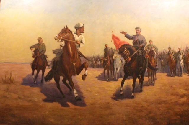 Kanafia Telzhanov, 'Amageldy Imanov Rebellion', ca. 1953, OYANU Gallery