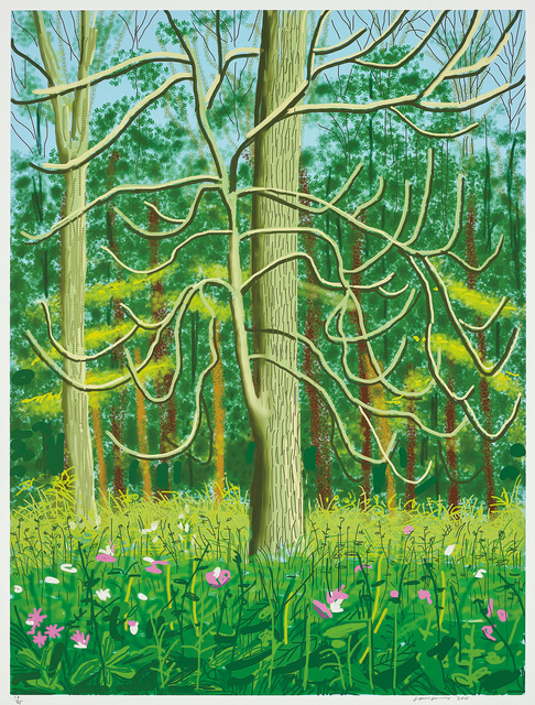 David Hockney, 'The Arrival of Spring in Woldgate, East Yorkshire in 2011- 4 May', 2011, Phillips