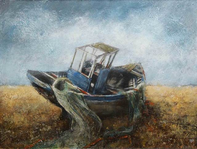 , 'Old Boat, Dungeness,' , Mall Galleries