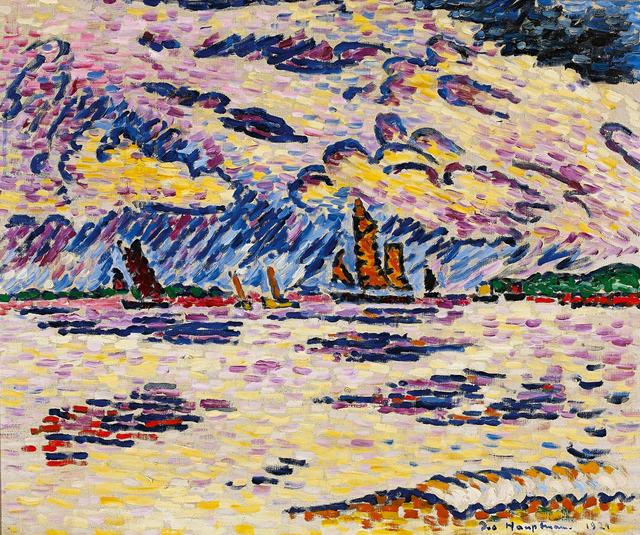 , 'Boote an der Elbe,' 1921, Galerie Herold