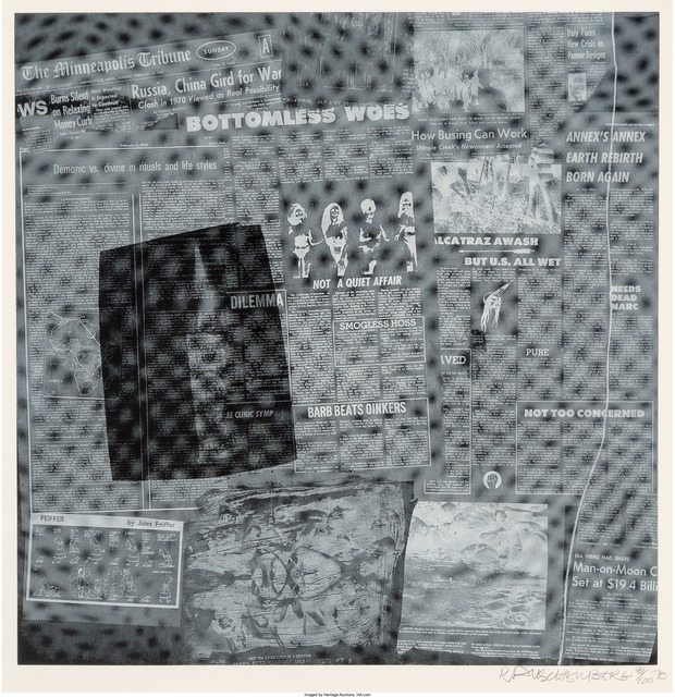 Robert Rauschenberg, 'Surface Series from Currents, Bottomless Woes', 1970, Heritage Auctions