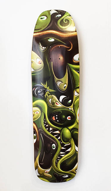 Kenny Scharf, ''The Hundreds' (skateboard deck)', 2015, Print, Screen print on 7-ply Canadian Maple hardwood skateboard deck., Signari Gallery