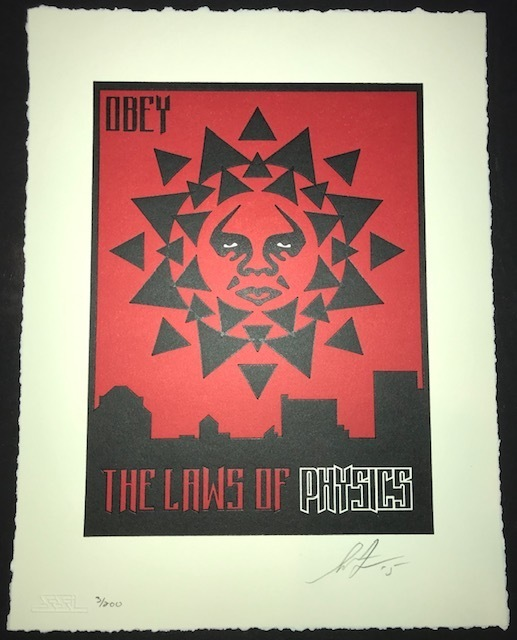 Shepard Fairey (OBEY), 'Laws of Physics 97', 2015, New Union Gallery
